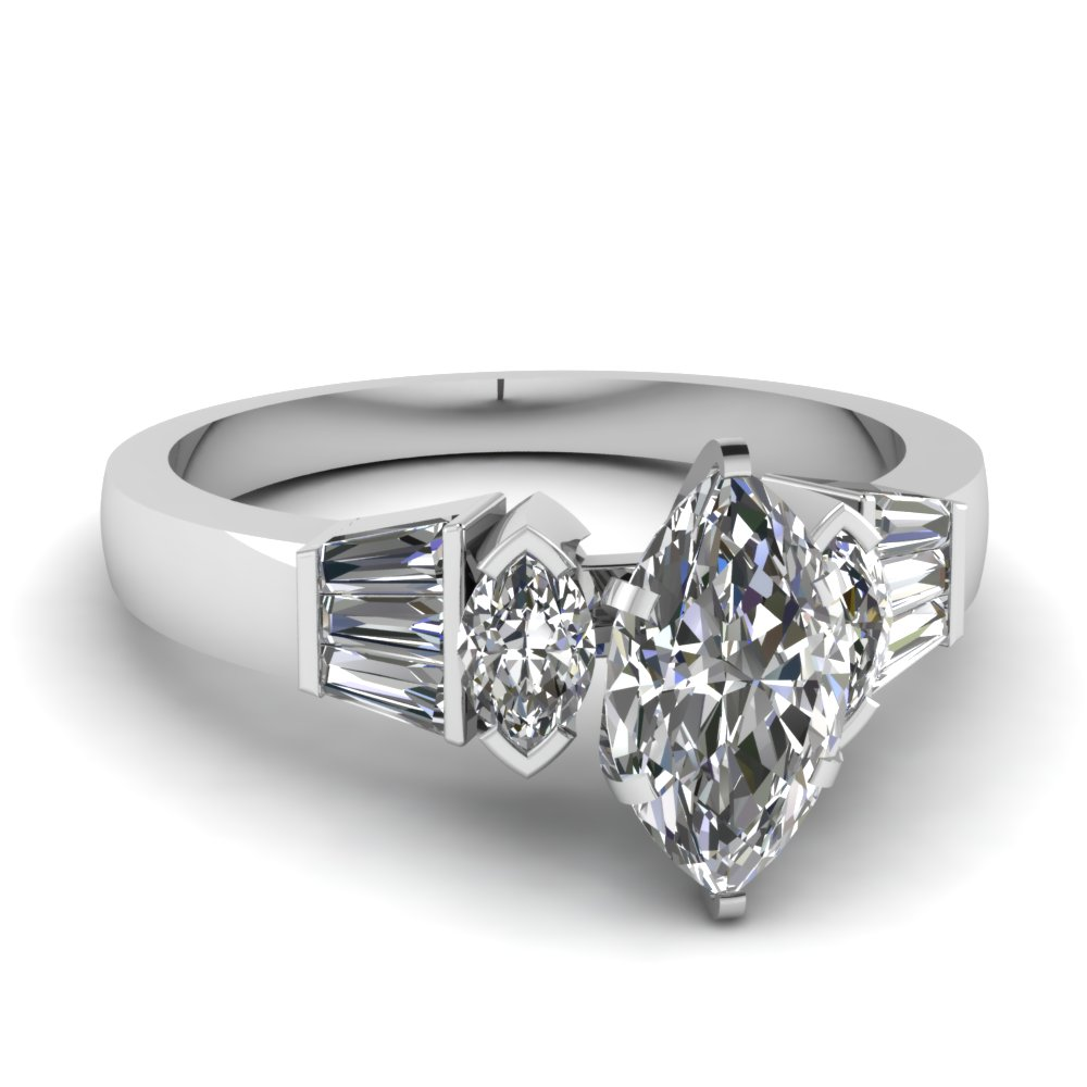Marquise Diamond Engagement Ring Zales